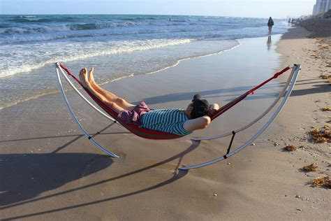 portable easy use folding beach hammock heavy duty