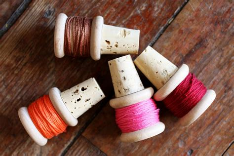 diy thread spool wine corks  beautiful mess