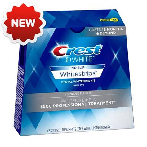 crest whitestrip supreme crest 3d white supreme whitestrips flexfit 2017