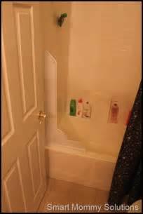 solution to a bathroom shower splash guard smart