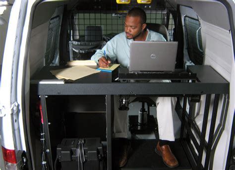office for mobile an ergonomic solutions vango mobile office installed in a