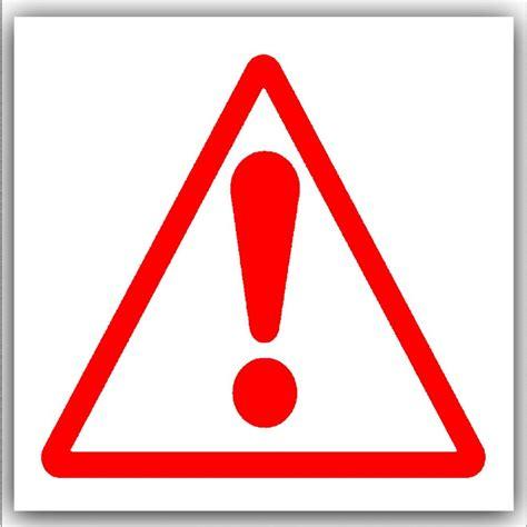 Danger White by 1 X Caution Warning Danger Symbol On White External