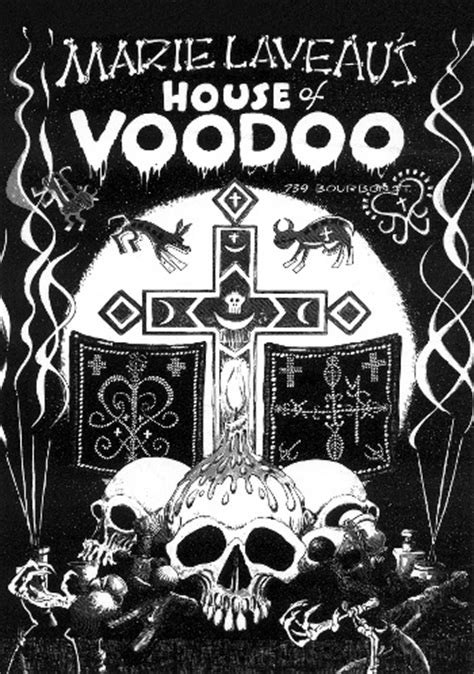marie laveau house of voodoo house of voodoo wall poster