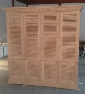 Louvre Cabinet Doors Made Entertaiment Cabinet With Louvered Doors By J S Woodworking Custommade