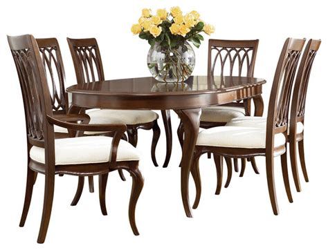 american drew cherry grove dining room set american drew cherry grove ng 7 piece dining room set in