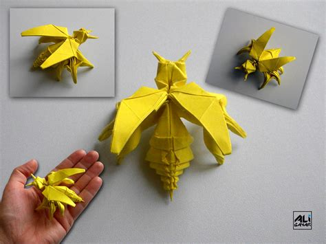 Origami Bee - origami bee by superhoca on deviantart