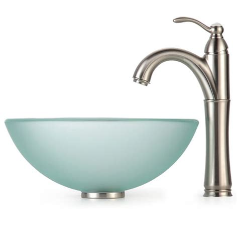 14 inch vessel sink homecomforts com kraus frosted 14 inch glass vessel sink