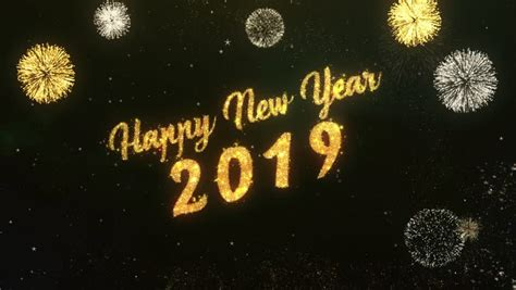 new year in 2019 2019 new year fireworks stock footage