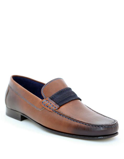 donald pliner loafers donald j pliner doven calf leather loafers in brown for