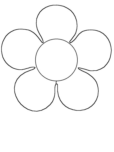 flower colouring template simple flower coloring coloring pages