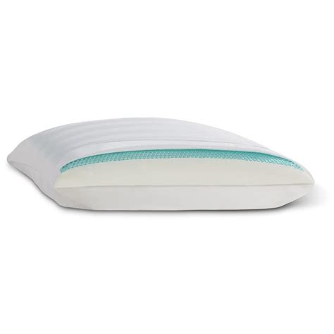comfort revolution memory foam pillow comfort revolution hydraluxe gel memory foam and fiberfill