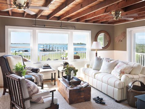 Coastal cottage beach style living room providence by kate