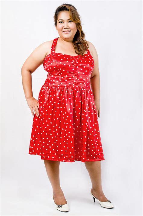 plus size polka dot dress dress edin