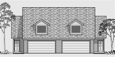 Duplex With Garage Plans by Duplex House Plans With 2 Car Garage