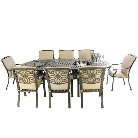 pit dining table with chairs kensington firepit grill oval bowl table with 8