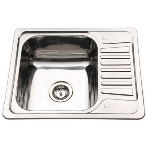 Compact Kitchen Sinks | small top mount inset stainless steel kitchen sinks with
