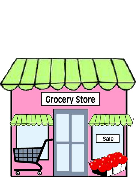 printable art shop free grocery store clipart