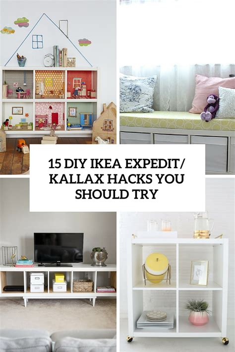 diy ikea 15 diy ikea kallax shelves hacks you could attempt