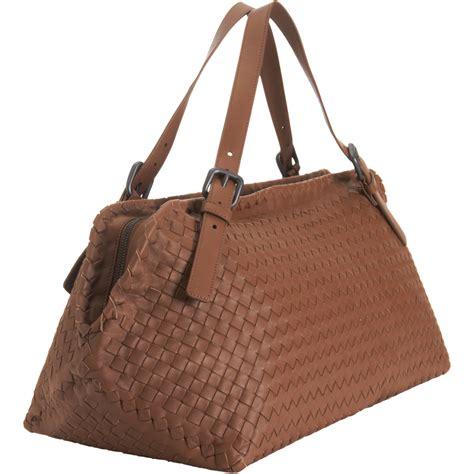 Bottega Veneta Sturzzo Intercciato Handbag by Bottega Veneta Intrecciato Boca Shoulder Bag In Brown Lyst