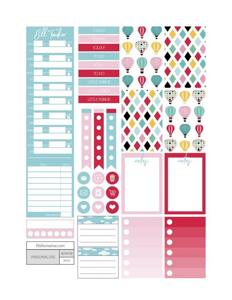 printable planner supplies 58 best diy printables images on pinterest happy planner