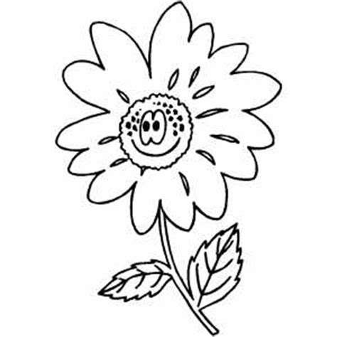 happy flower coloring page happy flower coloring sheet