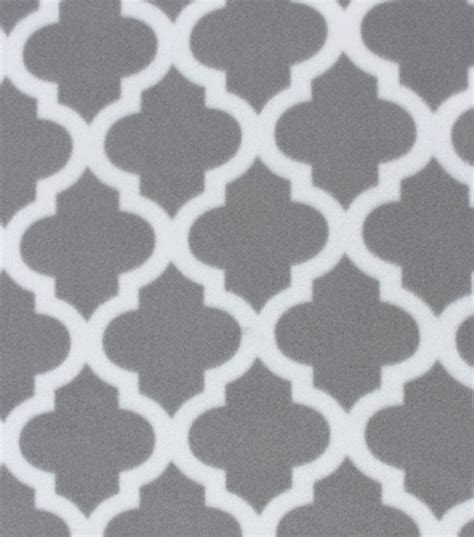 grey pattern fleece fabric blizzard fleece fabric gray moroccan tile jo ann