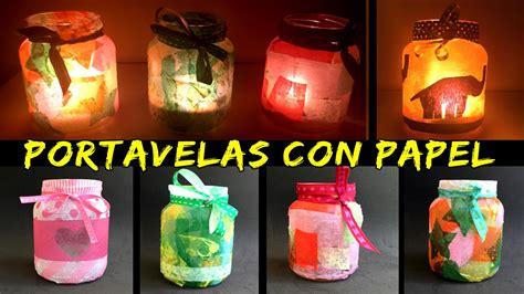 imagenes navideñas faciles de hacer portavelas con papel de seda 161 3 modelos diferentes youtube