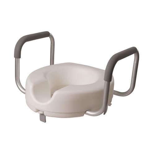 dmi raised toilet seat  arms     home