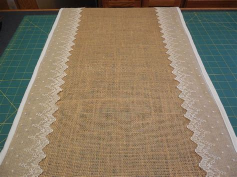 table runner fabric obsession burlap lace table runner tutorial