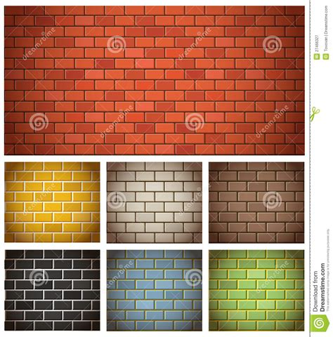 different color brick textures royalty free stock