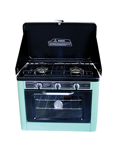Oven Aluminium Hock No 2 kexin 2 burner gas cing stove with gas oven no grill
