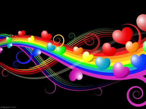 colorful wallpapers of love miracle of love love heart wallpaper