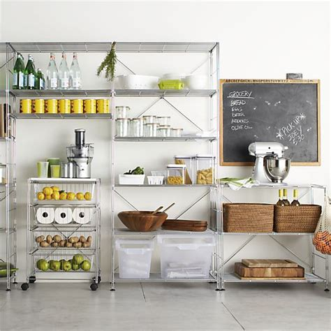 Chrome Pantry Shelves by How To Make Your Kitchen Feel Larger Kitchen Storage