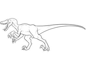 Velociraptor Coloring Pages Best Coloring Pages For Kids Velociraptor Coloring Page