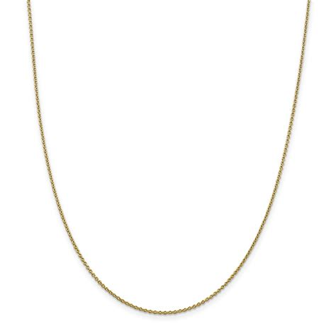14k 6mm solid polished cable chain cable chains 14k 1 4mm solid polished cable chain