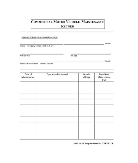 maintenance log template fleet vehicle spreadsheet luxury repair