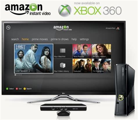 amazon xbox 360 amazon launches prime video streaming on xbox 360