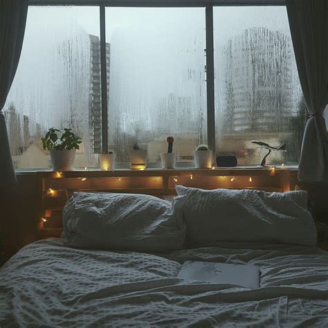 cozy bed rainy days i would stay in that bed forever and ever