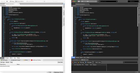 themes xamarin using visual studio s dark theme syntax highlighting in