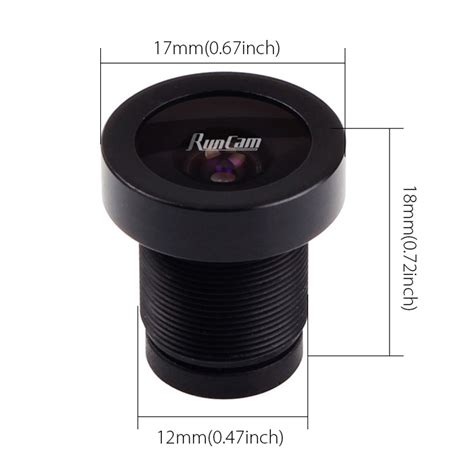2 5mm Wide Angle Mtv Lens For Fpv fov 130 degree 1 1 8 quot 2 5mm wide angle fpv lens runcam eagle 16 9 runcam fpv store