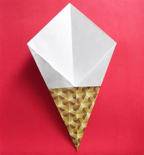 Origami Cone - how to make an easy origami cone