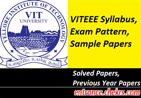 paper pattern of viteee 2014 viteee 2017 syllabus exam pattern sle papers