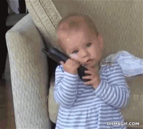 Etrade Baby Meme - kid phone gif find share on giphy
