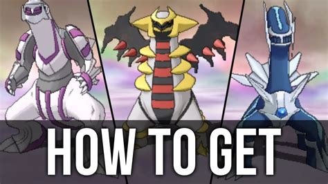 how to get how to get dialga palkia and giratina in pok 233 mon omega