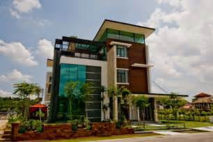 three story building malaysia architecture modern home construction in kuala