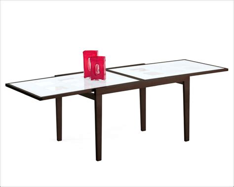 47 glass table top 47in expandable dining table w frosted glass top