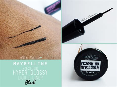 Myb E Hyper Glossy Black maybelline hyper gloss liquid liner black silver