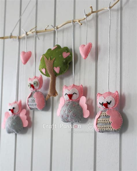 pattern for felt owl mobile nursery owl mobile free sewing pattern owl mobile