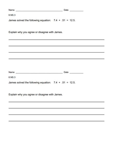 6 Ns 1 Worksheets by Common Math 6th Grade Collection Lesson Planet