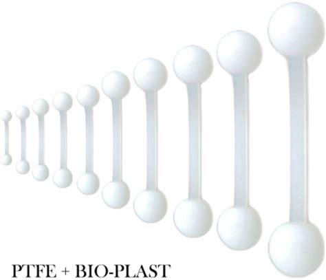 Barbell Plastik piercing barbell stecker mit bio uv kunststoff kugel